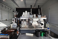 Coffee machine in mobile shop