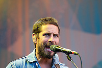 The Sam Roberts Band plays to a crowd in Village Square during the 2010 Olympic Winter Games in Whistler, BC