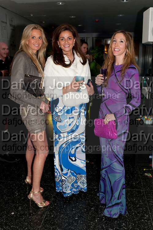 SIOBAN LOUGHRAN; MARJORIE GRASSI; DORIAN MAY, The ICA's Psychedelica Gala Fundraising party. Institute of Contemporary Arts. The Mall. London. 29 March 2011. -DO NOT ARCHIVE-© Copyright Photograph by Dafydd Jones. 248 Clapham Rd. London SW9 0PZ. Tel 0207 820 0771. www.dafjones.com.