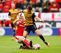 Greg Halford of Rotherham United tackles Joe Bryan of Bristol City  - Mandatory by-line: Matt McNulty/JMP - 10/09/2016 - FOOTBALL - Aesseal New York Stadium - Rotherham, England - Rotherham United v Bristol City - Sky Bet Championship