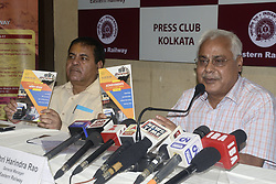 June 22, 2017 - Kolkata, West Bengal, India - Eastern Railways General Manager Harindra Rao ( in right)  inaugurated exhibition and booklet on achievement and development of Eastern Railway and interaction with the press at Kolkata Press club on June 22, 2017 in Kolkata. (Credit Image: © Saikat Paul/Pacific Press via ZUMA Wire)