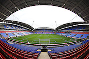 A wide angle view of the Stadium bowl before the Sky Bet Championship match between Bolton Wanderers and Brighton and Hove Albion at the Macron Stadium, Bolton, England on 26 September 2015.