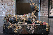 "Venezia - Punta della Dogana . La mostra di Damien Hirst: ""Tresaures from the Wreck of Unbelievable. ""Sphinx""""."