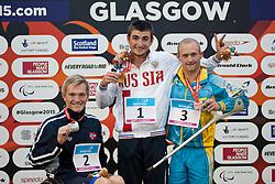GLADKOV Andrei, BJORNSTAD Andreas Skaar, KVANSNYTSIA Marian RUS, NOR, UKR at 2015 IPC Swimming World Championships -  Men's 400m Freestyle S7