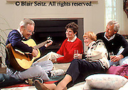 Active Aging Senior Citizens, Retired, Activities, Elderly Sing and Play Musical Instruments, Staying Young, Active Minds