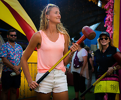 December 28, 2018 - Brisbane, AUSTRALIA - Kristina Mladenovic of France visits Brisbanes East Street Markets ahead of the 2019 Brisbane International WTA Premier tennis tournament (Credit Image: © AFP7 via ZUMA Wire)