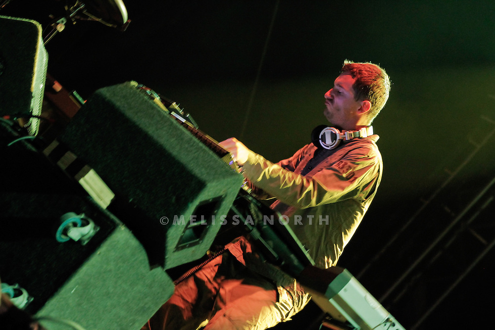 Andy Barlow of Lamb performs live on stage at Standon Calling, Herts, UK on 13 August 2011. JPH/B2779