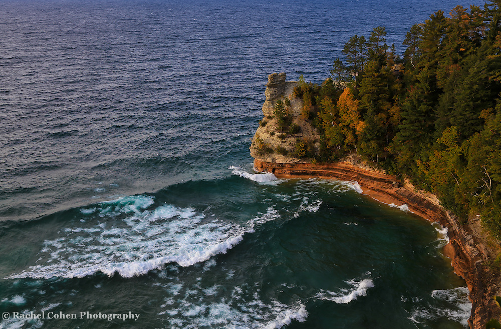 &quot;Waves at Miners Castle&quot; <br />