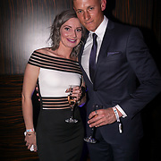 Westminster, UK. 20th Apr, 2017. Part time working mummy finalist in parenting and lifestyle Rachaele Hambeton & Josh Marshall attends The annually National UK Blog Awards at Park Plaza Westminster Bridge, London. by See