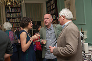 LARA FEIGEL; MICHAEL FISHWICK; RICHARD CHARKIN, The Love-charm of Bombs. Restless Lives in the Second World War. By Lara Feigel - book launch party. Bloomsbury Publishing, 50 Bedford Square, London, WC1, 17 JANUARY 2012.