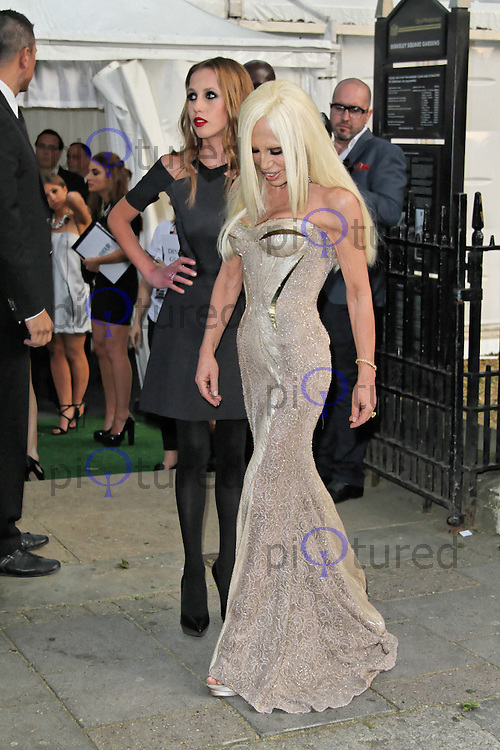 LONDON - MAY 29: Allegra Versace; Donatella Versace attend the Glamour Women Of The Year Awards, Berkeley Square, London, UK. May 29, 2012. (Photo by Richard Goldschmidt)
