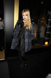 PEACHES GELDOF at the opening of the Atelier Moet pop-up boutique, 70 New Bond Street, London on 3rd December 2008.