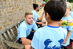 Ian Madigan signs autographs for fans at the Bristol Bears Community Foundation Summer Holiday Camp at Old Bristolians RFC - Mandatory by-line: Dougie Allward/JMP - 15/08/2018 - Rugby
