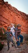 San Juan River canyon family desert rafting trip, souther Utah.