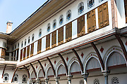 Concubines apartments at Topkapi Palace, Topkapi Sarayi, part of the Ottoman Empire in Istanbul, Turkey
