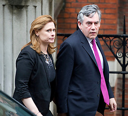 Former Prime Minister Gordon Brown and his wife Sarah  arriving at the Leveson Inquiry in London,Monday 11th June 2012  Photo by: i-Images