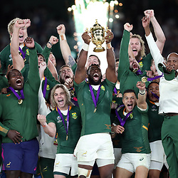 during the Rugby World Cup Final match between South Africa Springboks and England Rugby World Cup Final at the International Stadium Yokohama  Japan.Saturday 02 November 2019. (Mandatory Byline -Steve Haag Sports Hollywoodbets)