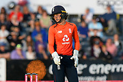Wicketkeeper Amy Jones of England during the 3rd Vitality International T20 match between England Women Cricket and Australia Women at the Bristol County Ground, Bristol, United Kingdom on 31 July 2019.