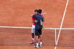 Bildnummer: 10767310  Datum: 11.06.2012  Copyright: imago/PanoramiC..Rafael Nadal Novak Djokovic TENNIS : Finale Messieurs - Roland Garros J15 - 11/06/12 N.LeGouic/FEP/Panoramic PUBLICATIONxNOTxINxFRAxITAxBEL ; Tennis French Open Paris Grand Slam Sieg Sieger Jubel xdp x0x 2012 quer premiumd....Image number 10767310 date 11 06 2012 Copyright imago Panoramic Rafael Nadal Novak Djokovic Tennis Final Messieurs Roland Garros  11 06 12 n LeGouic FEP Panoramic PUBLICATIONxNOTxINxFRAxITAxBEL Tennis French Open Paris Grand Slam Victory Winner cheering  x0x 2012 horizontal premiumd
