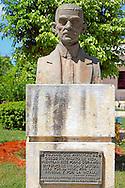 Bust in a park in Bauta, Artemisa, Cuba.