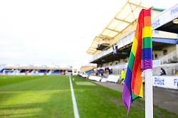 Rainbow corner flag - Mandatory by-line: Dougie Allward/JMP - 02/12/2017 - FOOTBALL - Memorial Stadium - Bristol, England - Bristol Rovers v Rotherham United - Sky Bet League One