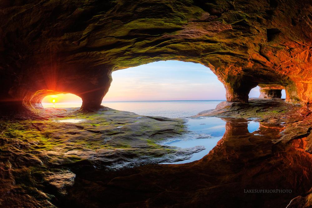 portals of light, Lake Superior seacaves