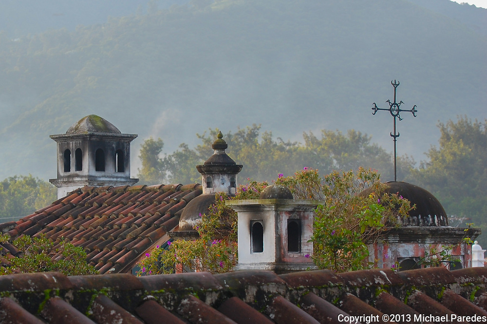 You can find artful touches in almost every corner of Antigua, Guatemala…even on rooftops