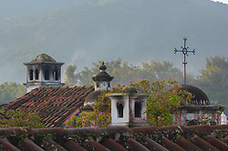 You can find artful touches in almost every corner of Antigua, Guatemala?even on rooftops