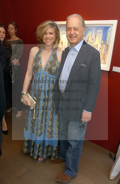 SIR JOHN & LADY LEON he is actor John Standing and she is Sarah Forbes daughter of Brian Forbes and Nanette Newman at a private view of artist Damian Elwes work 'Artists Studios' held at Scream, 34 Bruton Street, London W1 on 29th June 2006.<br /><br />NON EXCLUSIVE - WORLD RIGHTS