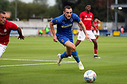 AFC Wimbledon midfielder Dylan Connolly (16) chasing the ball during the Pre-Season Friendly match between AFC Wimbledon and Bristol City at the Cherry Red Records Stadium, Kingston, England on 9 July 2019.