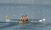 "Rio de Janeiro. BRAZIL.   GBR LM4-. Semi Final A/B. Bow Chris BARTLEY, Mark ALDRED, Jonno CLEGG and Peter CHAMBERS. 2016 Olympic Rowing Regatta. Lagoa Stadium,<br /> Copacabana,  ""Olympic Summer Games""<br /> Rodrigo de Freitas Lagoon, Lagoa.   Tuesday  09/08/2016 <br /> <br /> [Mandatory Credit; Peter SPURRIER/Intersport Images]"
