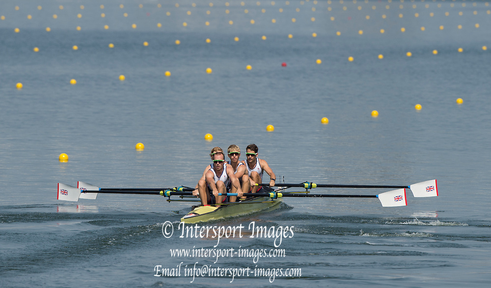 Rio de Janeiro. BRAZIL.   GBR LM4-. Semi Final A/B. Bow Chris BARTLEY, Mark ALDRED, Jonno CLEGG and Peter CHAMBERS. 2016 Olympic Rowing Regatta. Lagoa Stadium,<br /> Copacabana,  &ldquo;Olympic Summer Games&rdquo;<br /> Rodrigo de Freitas Lagoon, Lagoa.   Tuesday  09/08/2016 <br /> <br /> [Mandatory Credit; Peter SPURRIER/Intersport Images]