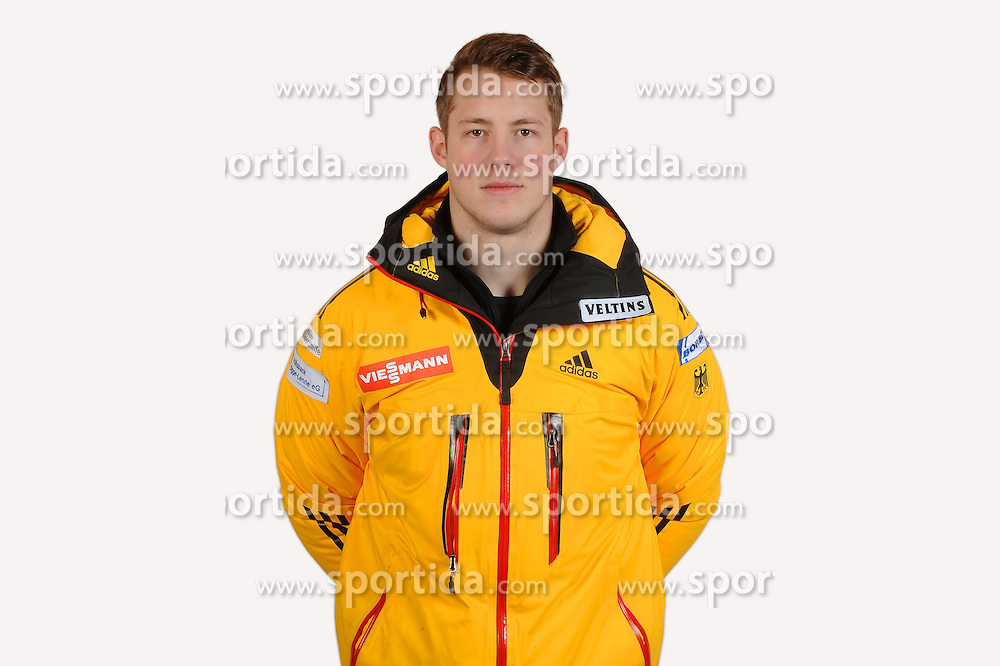 03.01.2014, Kunsteisbahn, Koenigssee, GER, BSD, Rennrodler Team Deutschland, Portrait, im Bild Robin Geueke (SC Fredeburg) // during Luge athletes of team Germany, Portrait Shooting at the Kunsteisbahn in Koenigssee, Germany on 2014/01/04. EXPA Pictures &copy; 2014, PhotoCredit: EXPA/ Eibner-Pressefoto/ Stuetzle<br /> <br /> *****ATTENTION - OUT of GER*****