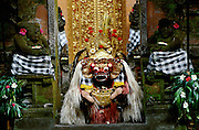 "Batubulan. The Barong, a lion-like creature, ""good"" opponent to the ""evil"" Rangda, the widow-witch."