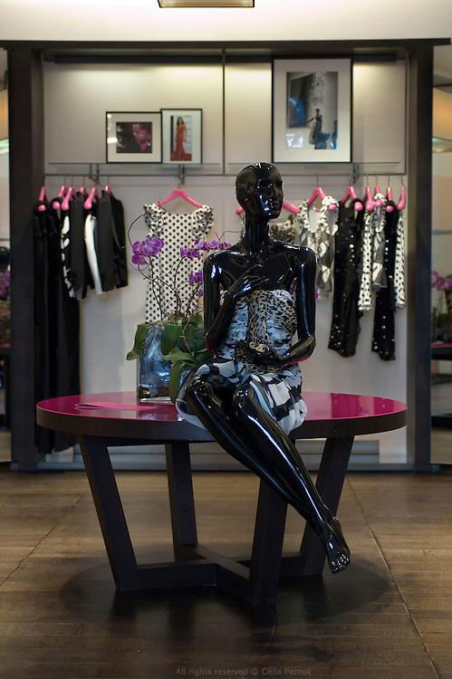 Ungaro store at the bottom of Ungaro Fashion House, avenue Montaigne in Paris