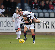Ross County&rsquo;s Craig Curran climbs over Dundee&rsquo;s Tom Hateley - Dundee v Ross County in the Ladbrokes Scottish Premiership at Dens Park, Dundee. Photo: David Young<br /> <br />  - &copy; David Young - www.davidyoungphoto.co.uk - email: davidyoungphoto@gmail.com