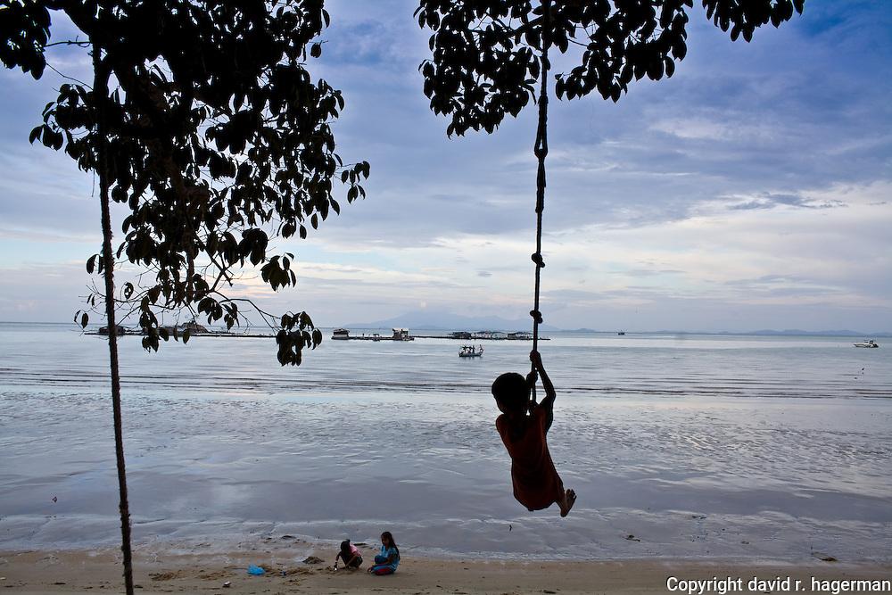 hanging around in Telok Pahang at the entrance to Taman Negara Pulau Penang