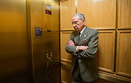 "Sen. Chuck Grassley rides the elevator down after leaving the Senate Committee on Agriculture, Nutrition, and Forestry for George ""Sonny"" Perdue to be Secretary of Agriculture and heads back to the Senate Judiciary Committee for Neil Gorsuch to become an Associate Justice of the US Supreme Court in the Russell Senate Office Building in Washington, D.C. on Thursday, Mar. 23, 2017."