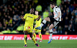 Jacob Butterfield of Derby County tackles Marvin Sordell of Burton Albion - Mandatory by-line: Robbie Stephenson/JMP - 21/02/2017 - FOOTBALL - iPro Stadium - Derby, England - Derby County v Burton Albion - Sky Bet Championship