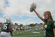 The OHIO football team is welcomed to the 2013 Homecoming game. © Ohio University / Photo by Ben Siegel