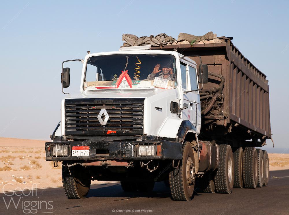 Egyptian Renault semi truck, Sinai Desert, Egypt