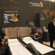 Singapore Airlines exhibition at Business Travel Show 2020 and travel technology europe on 26th February 2020, Olympia London, UK.