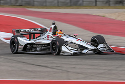 March 23, 2019 - Austin, Texas, U.S - Dale Coyne Racing driver Santino Ferrucci (19) of United States in action during the practice round at the Circuit of the Americas racetrack in Austin,Texas. (Credit Image: © Dan Wozniak/ZUMA Wire)