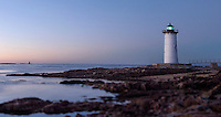 Sunrise at New Castle Coast Guard Lighthouse, New Castle New Hampshire  © Karen Bobotas Photographer