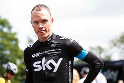 Team Sky rider Chris Froome of Great Britain looks on after a training ride at Rudding park near Harrogate, location of the teams Hotel - Photo mandatory by-line: Rogan Thomson/JMP - 07966 386802 - 04/07/2014 - SPORT - CYCLING - Harrogate, Yorkshire - Le Tour de France Grand Depart Previews.