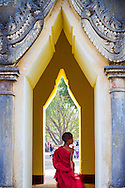 Novice monks at the Pagoda Festival in Bagan, Myanmar (Burma)