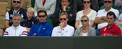 LONDON, ENGLAND - Friday, June 24, 2011: The family and coaches of Caroline Wozniacki (DEN), including parents Piotr and Anna and brother Patrik, during the Ladies' Singles 2nd Round match on day five of the Wimbledon Lawn Tennis Championships at the All England Lawn Tennis and Croquet Club. (Pic by David Rawcliffe/Propaganda)