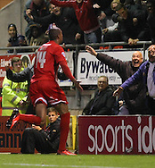 Picture by David Horn/Focus Images Ltd +44 7545 970036<br /> 17/09/2013<br /> Shaun Batt of Leyton Orient celebrates scoring to make it 4-1 during the Sky Bet League 1 match at the Matchroom Stadium, London.