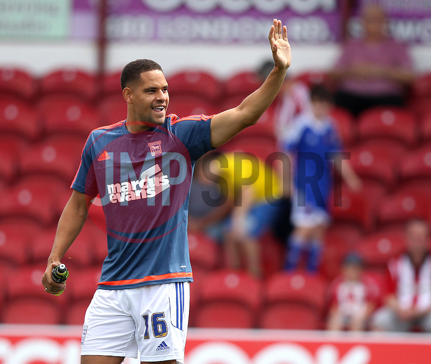 Ipswich Town's Giles Coke waves to the crowd - Mandatory by-line: Robbie Stephenson/JMP - 07966386802 - 08/08/2015 - SPORT - FOOTBALL - Brentford,England - Griffin Park - Brentford v Ipswich Town - Sky-Bet Championship