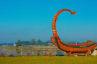 Taungthaman Lake Amarapura  Mandalay state Myanmar (Burma)